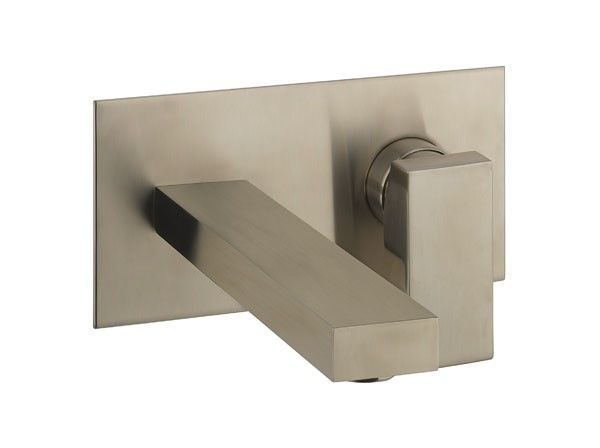 Crosswater Verge Basin 2 Hole Set - Brushed Stainless Steel