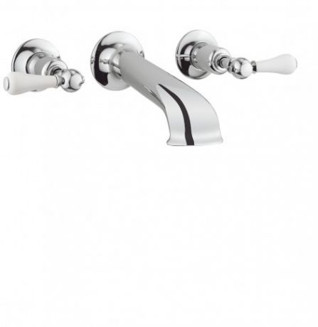 Crosswater Belgravia Lever Bath Spout with Wall Stop Taps