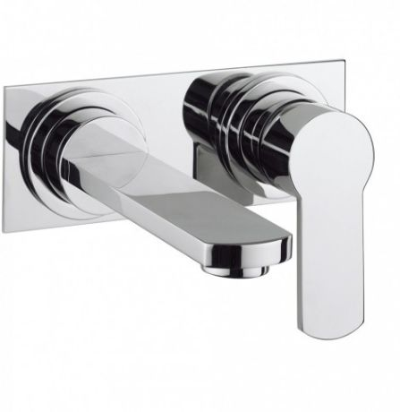 Crosswater Wisp Basin 2 Hole Set with Wall Mounted
