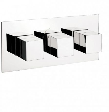 Crosswater Water Square Thermostatic Shower Valve 3 Control – Landscape