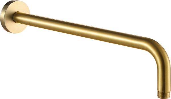 Just Taps VOS Brushed Brass Shower Arm, 400mm