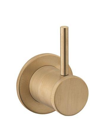 Crosswater MPRO Industrial 2 Way Diverter - Unlaquared Brushed Brass