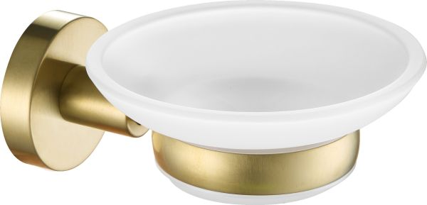 Just Taps VOS Brushed Brass Soap Dish