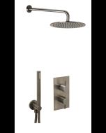 Just Taps Vos Shower Combination 2 outlet Brushed Black