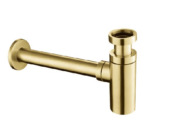 Just Taps VOS Brushed Brass Bottle Trap