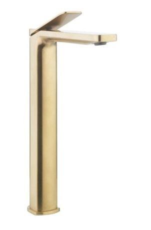 Crosswater Glide II Tall Basin Monobloc - Brushed Brass