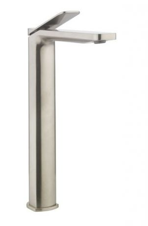 Crosswater Glide II Tall Basin Monobloc - Brushed Stainless Steel Effect