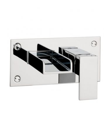 Crosswater Water Square Wall Mounted Basin 2 Hole Set