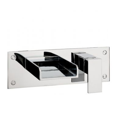 Crosswater Water Square Wall Mounted Bath 2 Hole Set