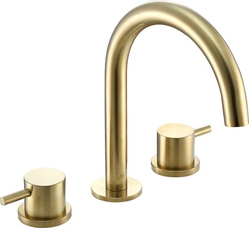Just Taps VOS 3 Hole Deck Mounted Basin Mixer