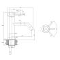 Crosswater MPRO Matt Black Basin Monobloc With Knurled Handle