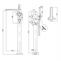 Crosswater Celeste Thermostatic Floor Standing Bath Shower Mixer with Shower Kit