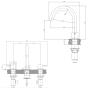 Crosswater MPRO 3 Hole Basin Mixer Tap - Brushed Brass