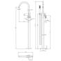 Crosswater MPRO Floorstanding Bath and Shower Mixer Tap - Brushed Brass
