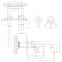 Crosswater MPRO Wall Mounted Basin Mixer Tap - Brushed Brass