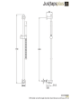 Just Taps VOS Slide Rail With Single Function Hand Shower And Hose