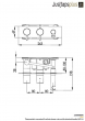 Just Taps VOS Thermostatic Concealed 2 Outlet Shower Valve With Attached Handset