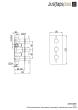 Just Taps VOS Matt Black Thermostatic Concealed 2 Outlet Shower Valve, Verticle