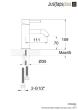 Just Plus VOS Brushed Black Single Lever Basin Mixer