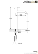 Just Taps VOS Brushed Black Single Lever Tall Basin Mixer