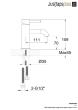 Just Taps VOS Matt Black Single Lever Basin Mixer