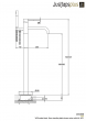 Just Taps VOS Matte Black, Floor Standing Bath Shower Mixer With Kit, HP 1