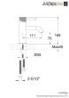 Just Taps VOS Single Lever Basin Mixer, Designer Handle