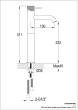 Just Tap VOS Matt Black Single Lever Tall Basin Mixer With Designer Handle