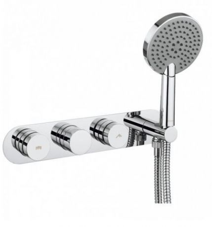 Crosswater Dial Valve 2 Control with Central Trim and Ethos Handset