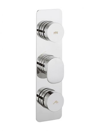 Crosswater Dial Pier Thermostatic Shower Valve 3 Control