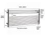 JIS Newick Towel Rail 600 x 1200mm