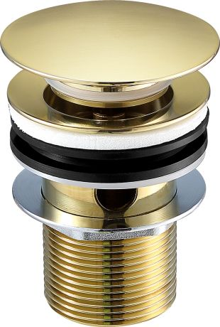 Just Taps VOS Brushed Brass Basin Waste Slotted