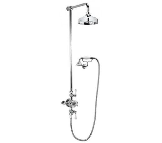 Crosswater Belgravia thermostatic shower with Fixed Head & Cradle Handset