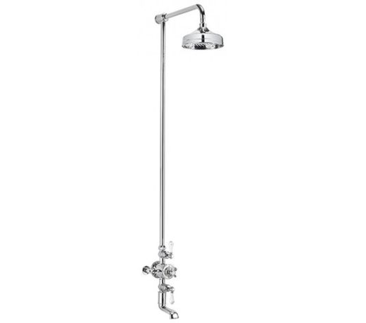 Crosswater Belgravia Thermostatic Shower Valve with Fixed Head Bath filler