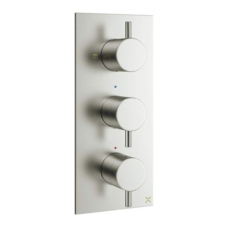 Crosswater MPRO 2 Outlet Concealed Thermostatic Shower Valve - Brushed Stainless Steel