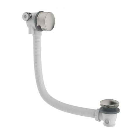 Crosswater MPRO Bath Filler with Click Clack Waste - Brushed Stainless Steel