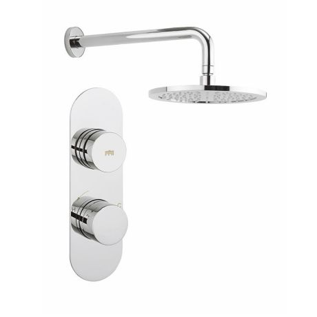 Crosswater Dial Valve 1 Control with Central Trim & Shower Head