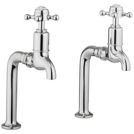 Crosswater Belgravia Crosshead Pair of Bib Taps – Chrome
