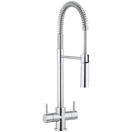 Crosswater Cucina Cook Dual Lever Kitchen Sink Mixer Tap With Flexi Spray – Chrome