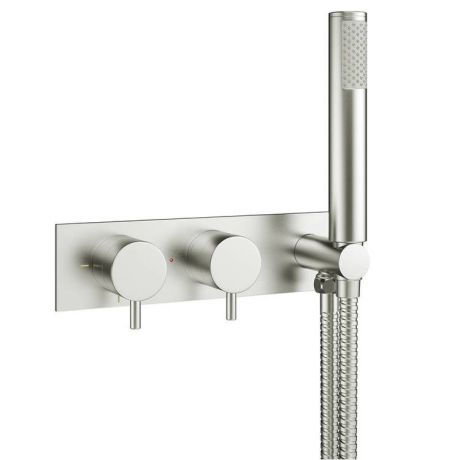 Crosswater MPRO Brushed Stainless Steel Shower Valve with Kit