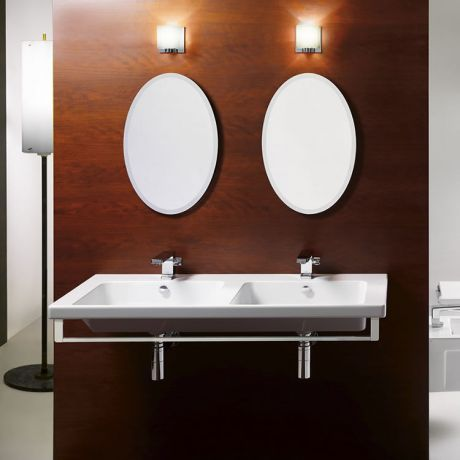 GSI Norm 125 Wall Hung Double Wash Basin