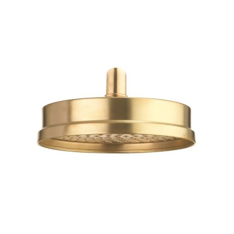 """Crosswater MPRO Industrial Shower Head 8"""" - Unlacquered Brushed Brass"""