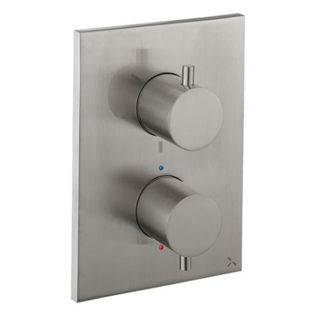 Crosswater MPRO Crossbox 2500 Valve - Brushed Stainless Steel Effect - 3 Way