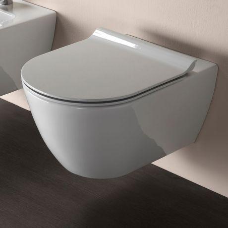 GSI Pura 50 Rimless Wall Hung Toilet & Soft Close Seat