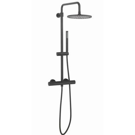 Crosswater Central Matt Black Multifunction Thermostatic Shower Kit - RM530WM+