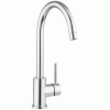 Crosswater Cucina Tropic Side Lever Chrome Sink Mixer Tap With Spray Head – Chrome